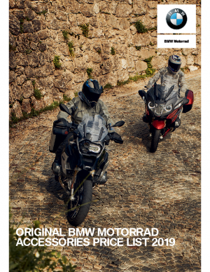 Original BMW Motorrad Accessories Price List 2019